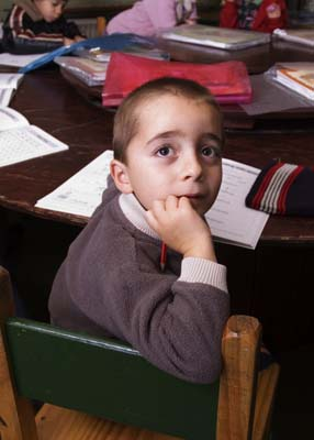 Child in class